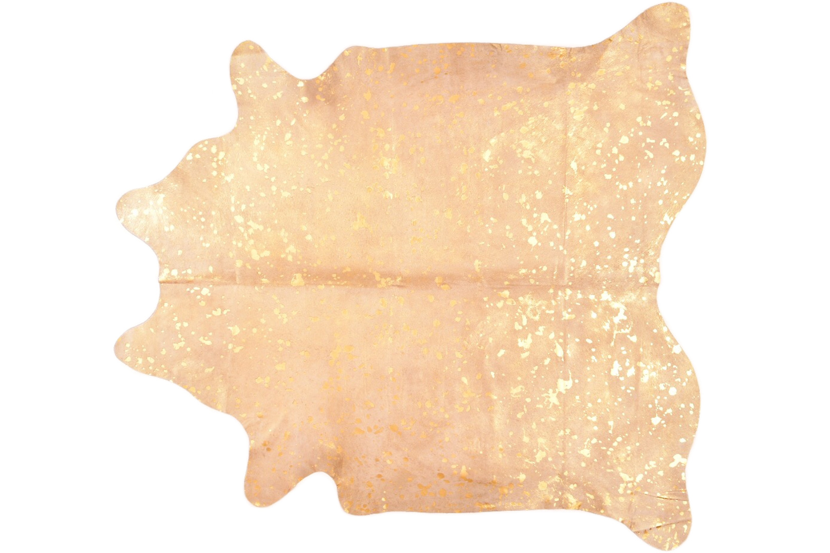 Gold metallic cowhide rug hugo hides for Cowhide rug houston
