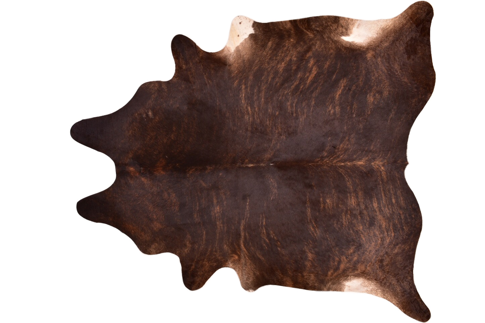 Cowhide Rug Brindle And Exotic Dark Xl 44 Sqft A
